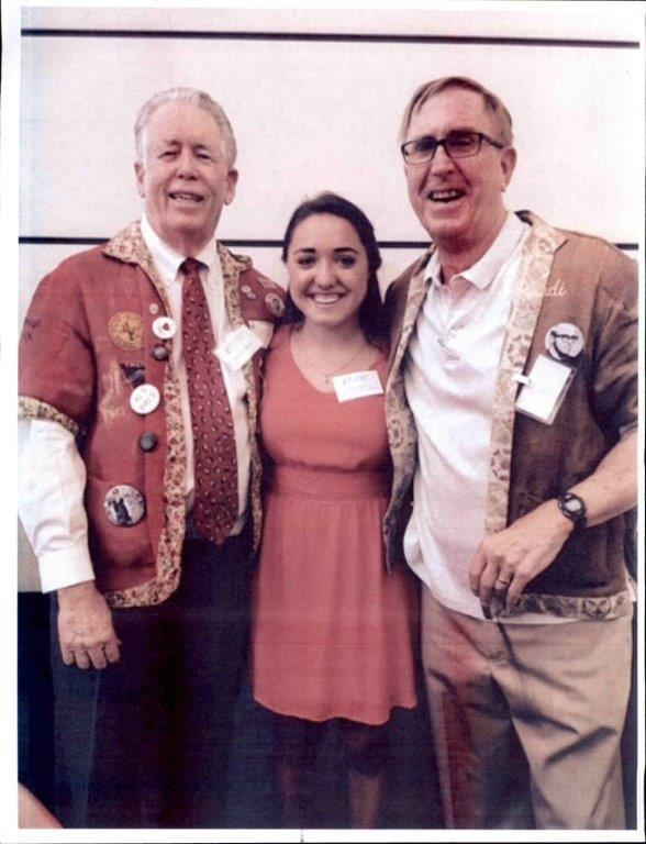 Scholar Tara Gilbreath with Marshall Sale and Rudi Smith.